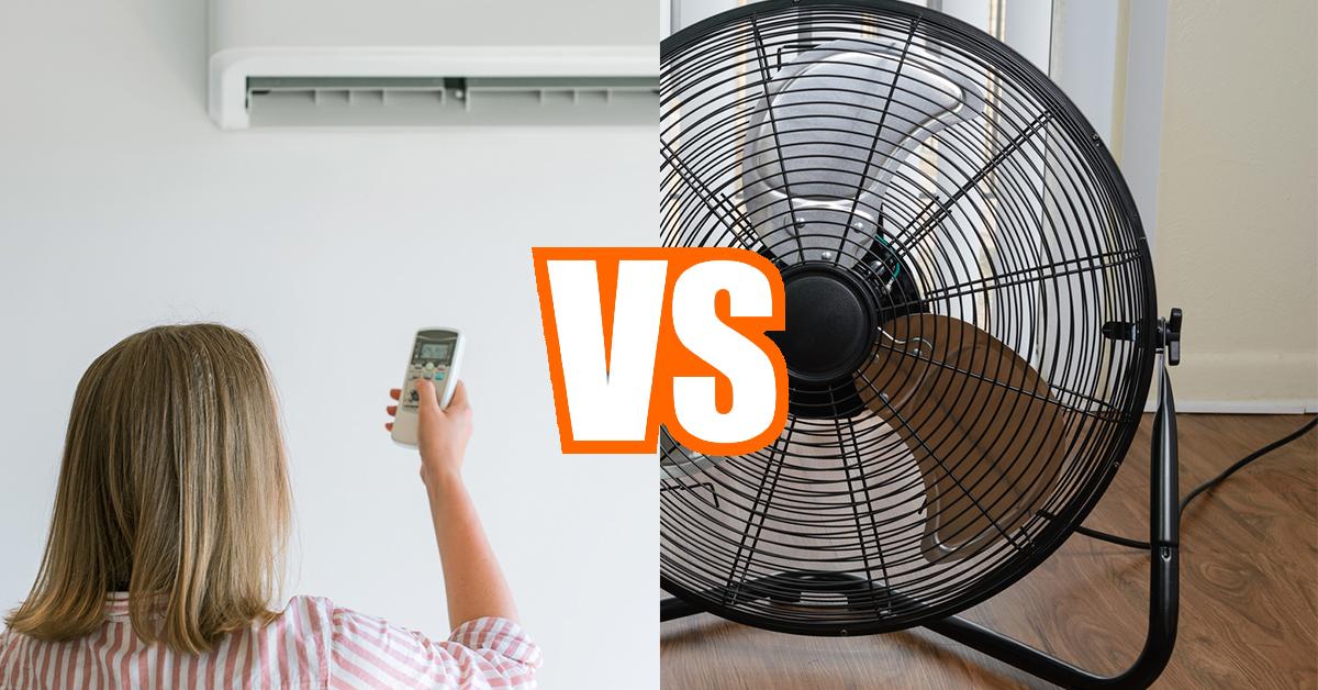 Ar condicionado vs. ventoinha