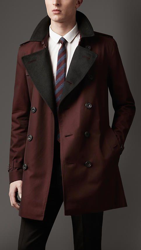 Trench-coat masculino