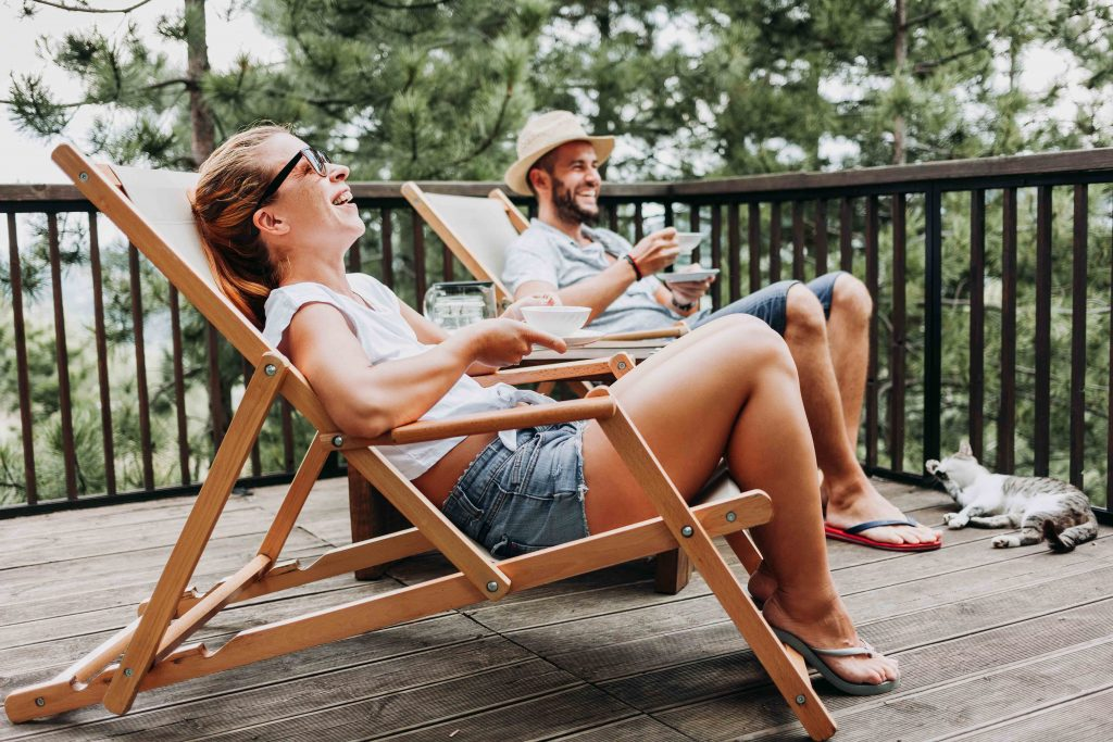 relaxar numa esplanada