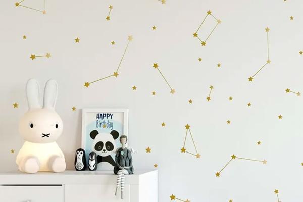 decoração para parede com estrelas