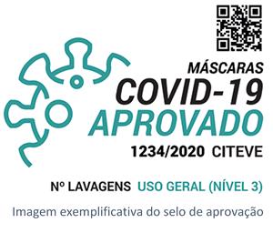 selo de aprovação mascara covid-19