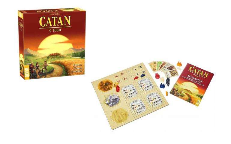 Jogo de tabuleiro modular Catan, tabuleiro e cartas de jogo