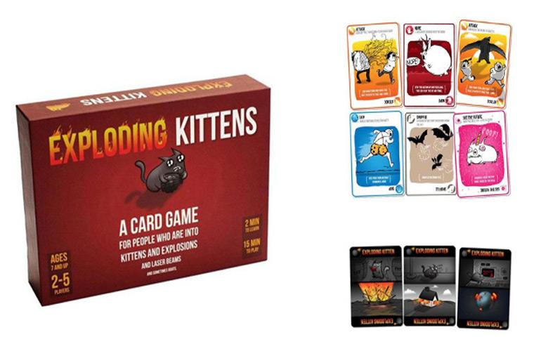 Jogo de cartas Exploding Kittens garante diversão para toda a família!