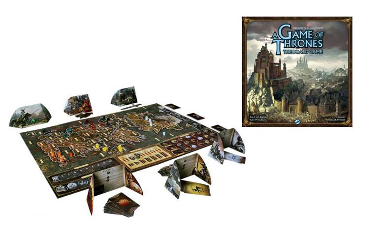 Jogo de estratégia Game of Thrones com cartas e tabuleiro