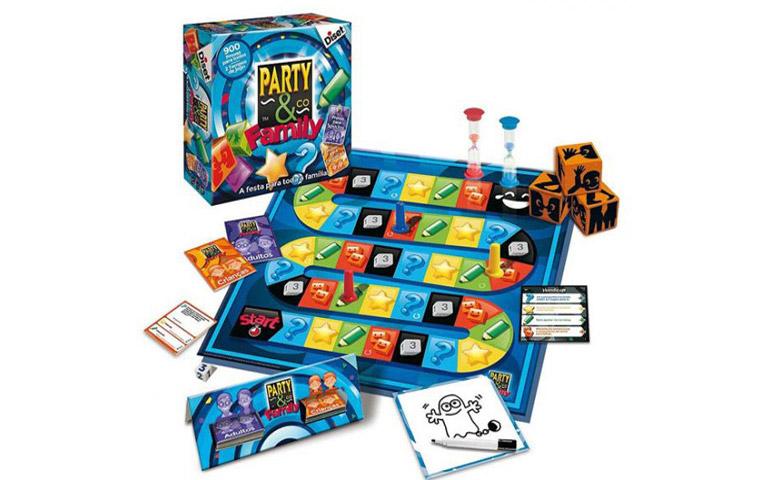Party & Co é um jogo de tabuleiro sobre cultura geral, desenho e palavras