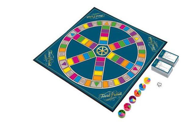 Trivial Persuit é um composto por um tabuleiro e perguntas de cultura geral de diferentes áreas