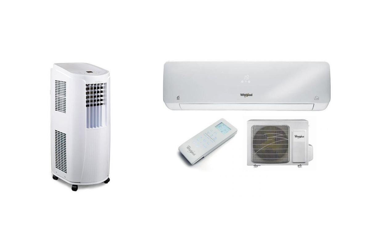 ar condicionado portátil e ar condicionado fixo