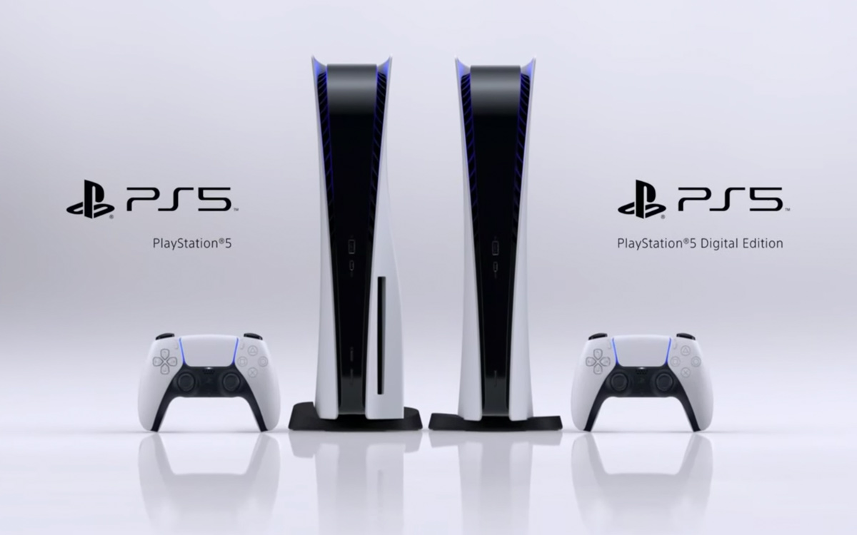 PlayStation 5 modelo standard e modelo digital edition