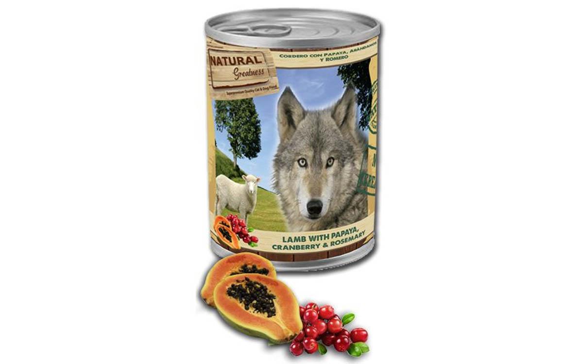 Ração Húmida Natural Greatness Lamb & Papaya & Cranberry
